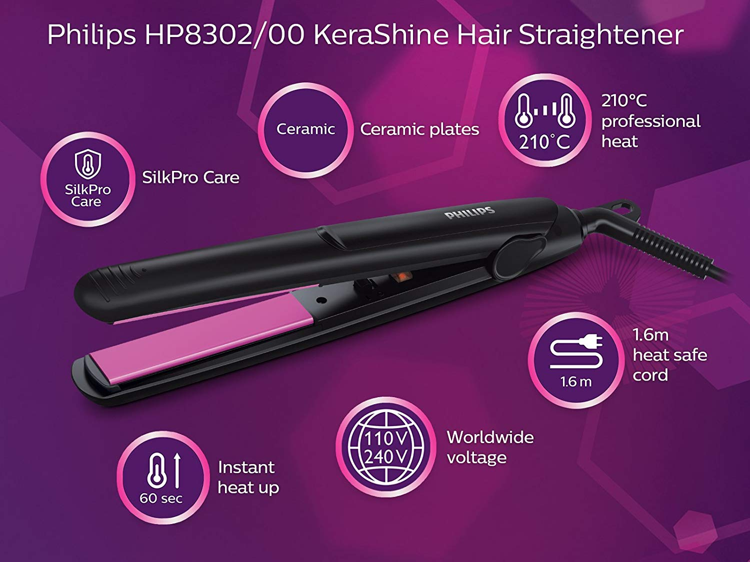 Philips HP8302 Hair Straightener