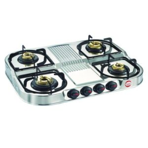 Prestige Stainless Steel 4 Burner Gas Stove
