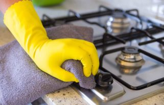 how to clean gas stove burner heads