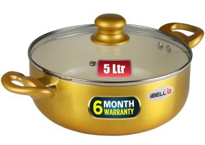 iBELL CS26C Ceramic Casserole 5.0 litres with Glass Lid
